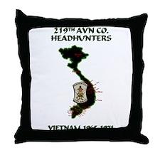 219th AVN CO. HEADHUNTERS Throw Pillow