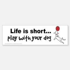PLAY with your dog Bumper Bumper Sticker