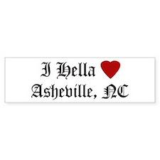 Hella Love Asheville Bumper Bumper Sticker