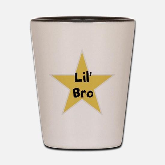 Lil' bro, fun, star, Shot Glass