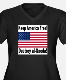 Destroy al-Qaeda Women's Plus Size V-Neck Dark T-S