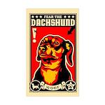 Fear the DACHSHUND! propaganda Sticker