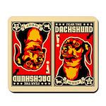 Fear the DACHSHUND propaganda Mousepad