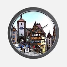 Rothenburg20161201_by_JAMFoto Wall Clock