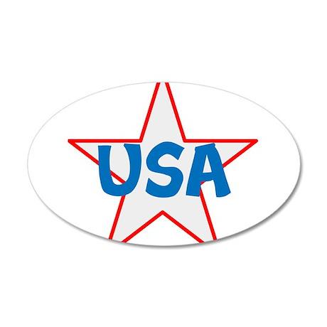 USA, awesome, 22x14 Oval Wall Peel