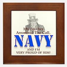 Navy Brother Framed Tile