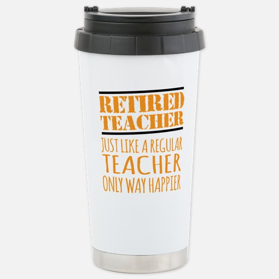 Cute Retired teacher Travel Mug