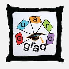 Guard Grad Flags Throw Pillow