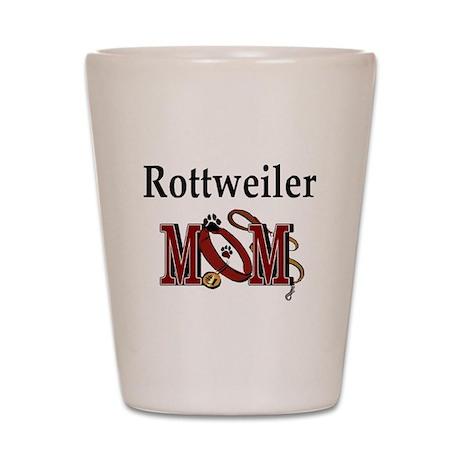 Rottweiler Mom Shot Glass