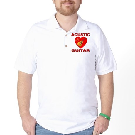 Love Acustic Guitar Golf Shirt