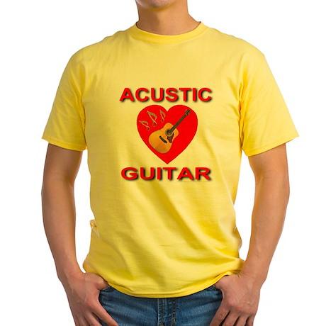 Love Acustic Guitar Yellow T-Shirt