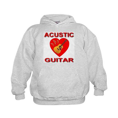 Love Acustic Guitar Kids Hoodie