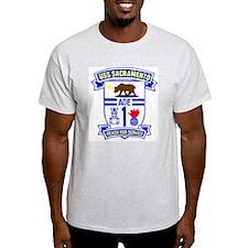 USS Sacramento AOE 1 Ash Grey T-Shirt