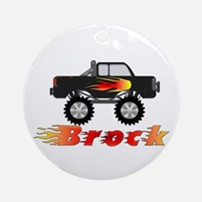 Brock Monster Truck Ornament (Round)