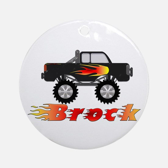 Brock Monster Truck Ornament (Round)