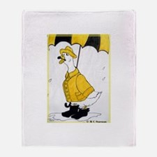 Goose, bright, fun, Throw Blanket