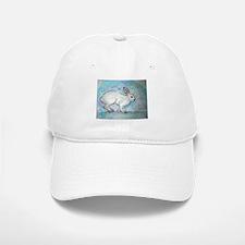 Rabbit! wildlife, winter, art!! Baseball Baseball Cap