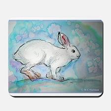 Rabbit! wildlife, winter, art!! Mousepad