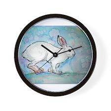 Rabbit! wildlife, winter, art!! Wall Clock