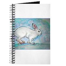 Rabbit! wildlife, winter, art!! Journal