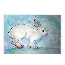Rabbit! wildlife, winter, art!! Postcards (Package