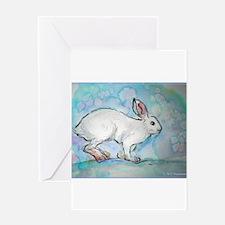 Rabbit! wildlife, winter, art!! Greeting Card