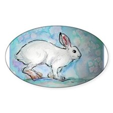 Rabbit! wildlife, winter, art!! Decal