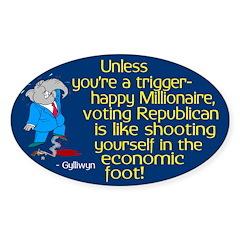 Trigger-Happy Millionaire Republican Decal