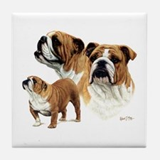 Bulldog Tile Coaster