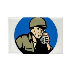world war two soldier Rectangle Magnet
