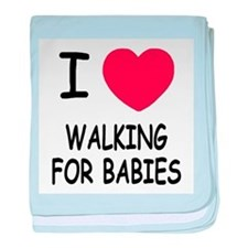I heart walking for babies baby blanket
