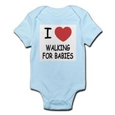I heart walking for babies Infant Bodysuit