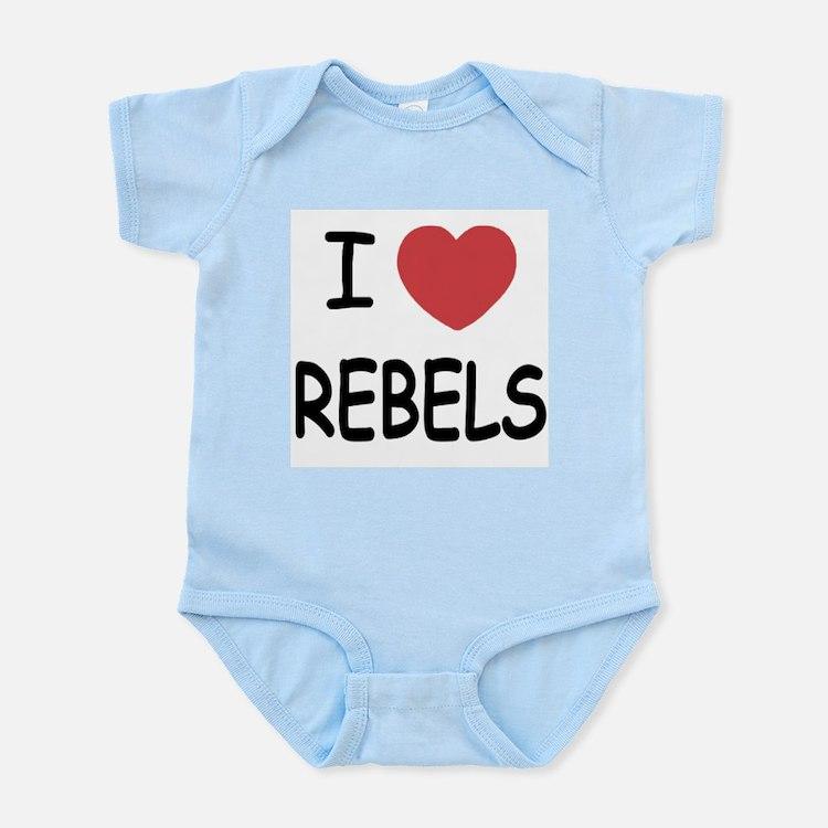 I heart rebels Infant Bodysuit