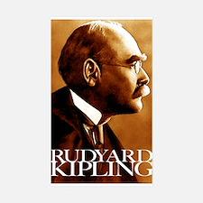 Rudyard Kipling Sticker (Rectangle 10 pk)