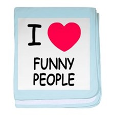 I heart funny people baby blanket