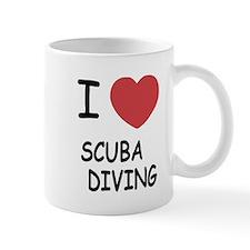 I heart scuba diving Mug
