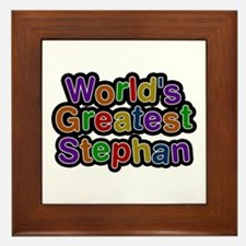 World's Greatest Stephan Framed Tile