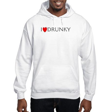 I Love Drunky Hooded Sweatshirt