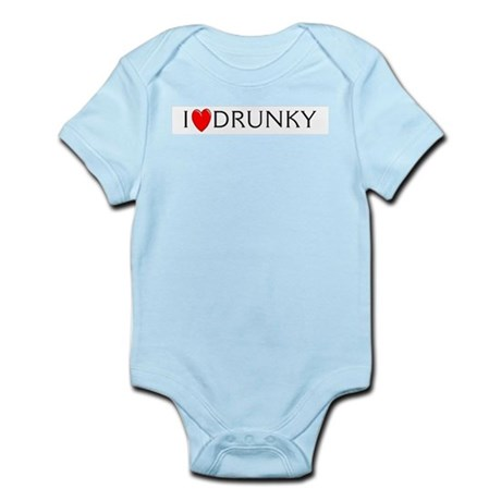 I Love Drunky Infant Creeper