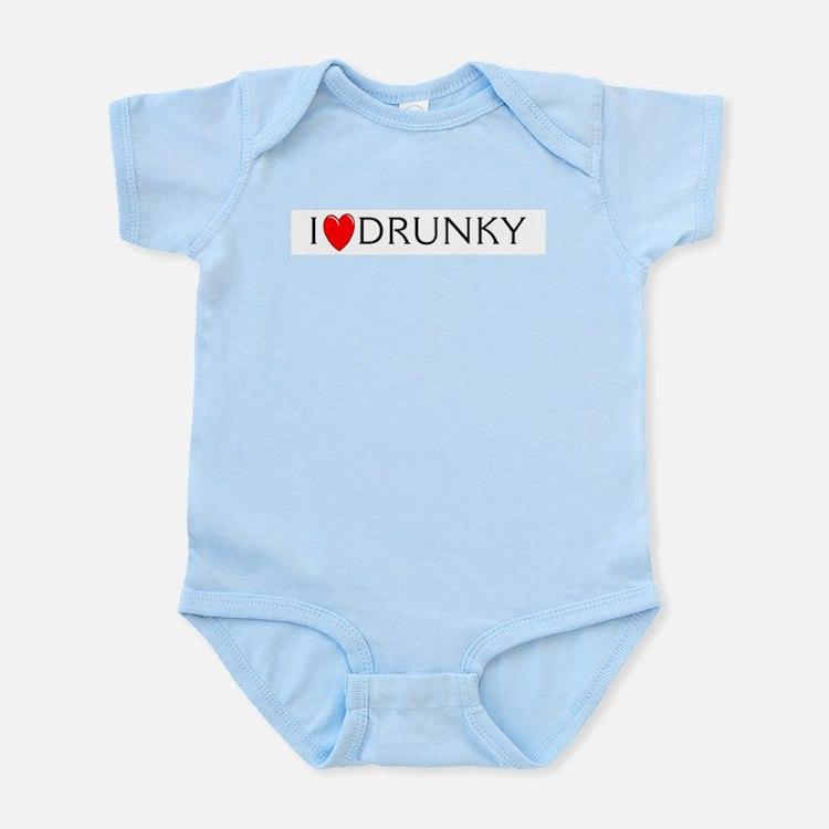 I Love Drunky Infant Creeper