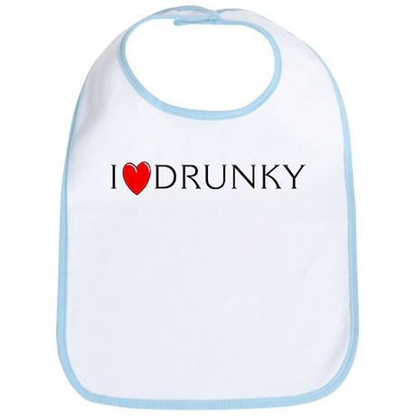 I Love Drunky Bib