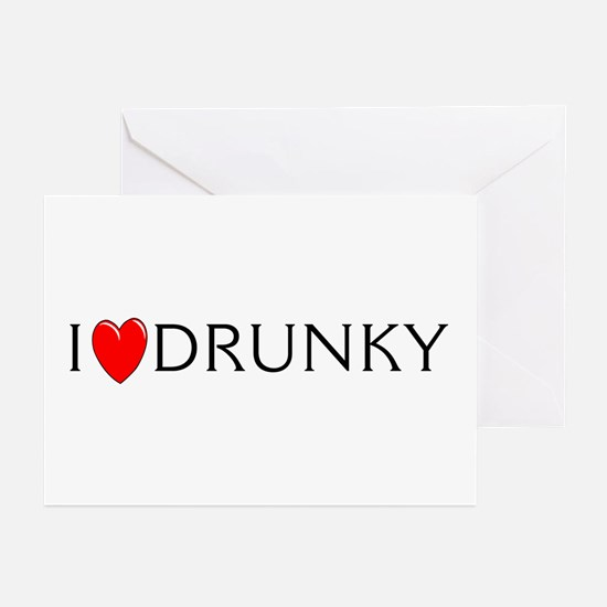 I Love Drunky Greeting Cards (Pk of 10)