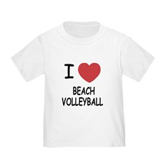 I heart beach volleyball T