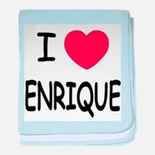 I heart enrique baby blanket
