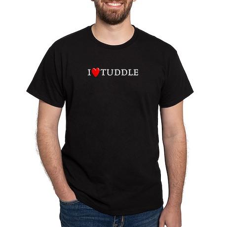I Love Tuddle Black T-Shirt