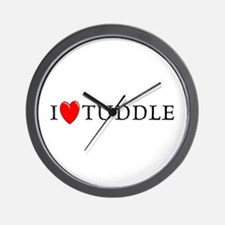 I Love Tuddle Wall Clock