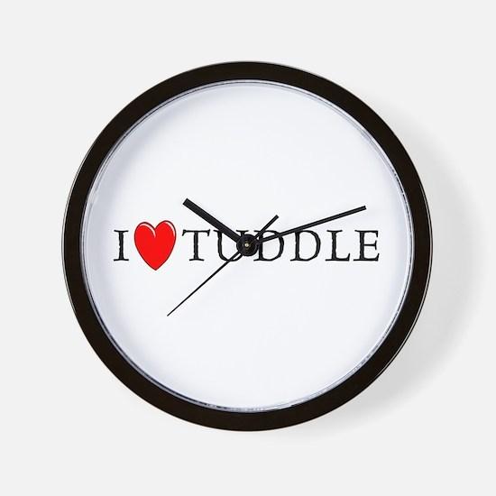 I Love Tuddle Wall Clock