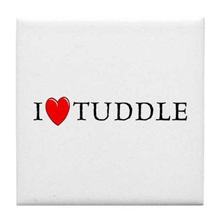 I Love Tuddle Tile Coaster
