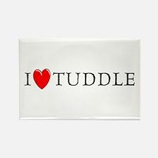 I Love Tuddle Rectangle Magnet