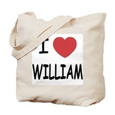 I heart william Tote Bag